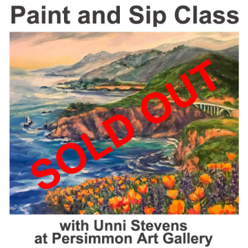"""March 23 & 26, 2021 Paint and Sip Class """"Highway One"""" with Unni Stevens"""