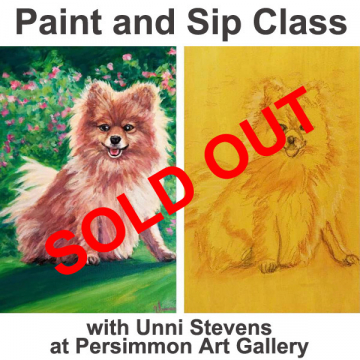 """February 23, 2021 Paint and Sip Class """"Animal"""" with Unni Stevens"""