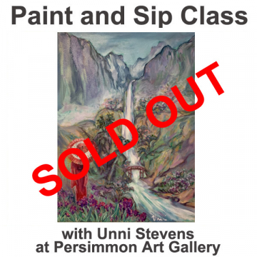 """April 23, 2021 Paint and Sip Class """"Spring Falls"""" with Unni Stevens"""