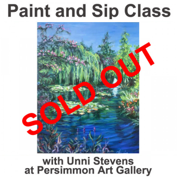 """May 21, 2021 Paint and Sip Class """"Spring Pond"""" with Unni Stevens"""